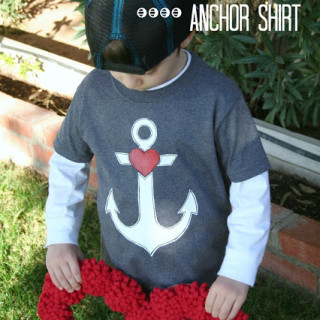 Boys Valentine's Day Anchor Shirt – and Deco Art Giveaway