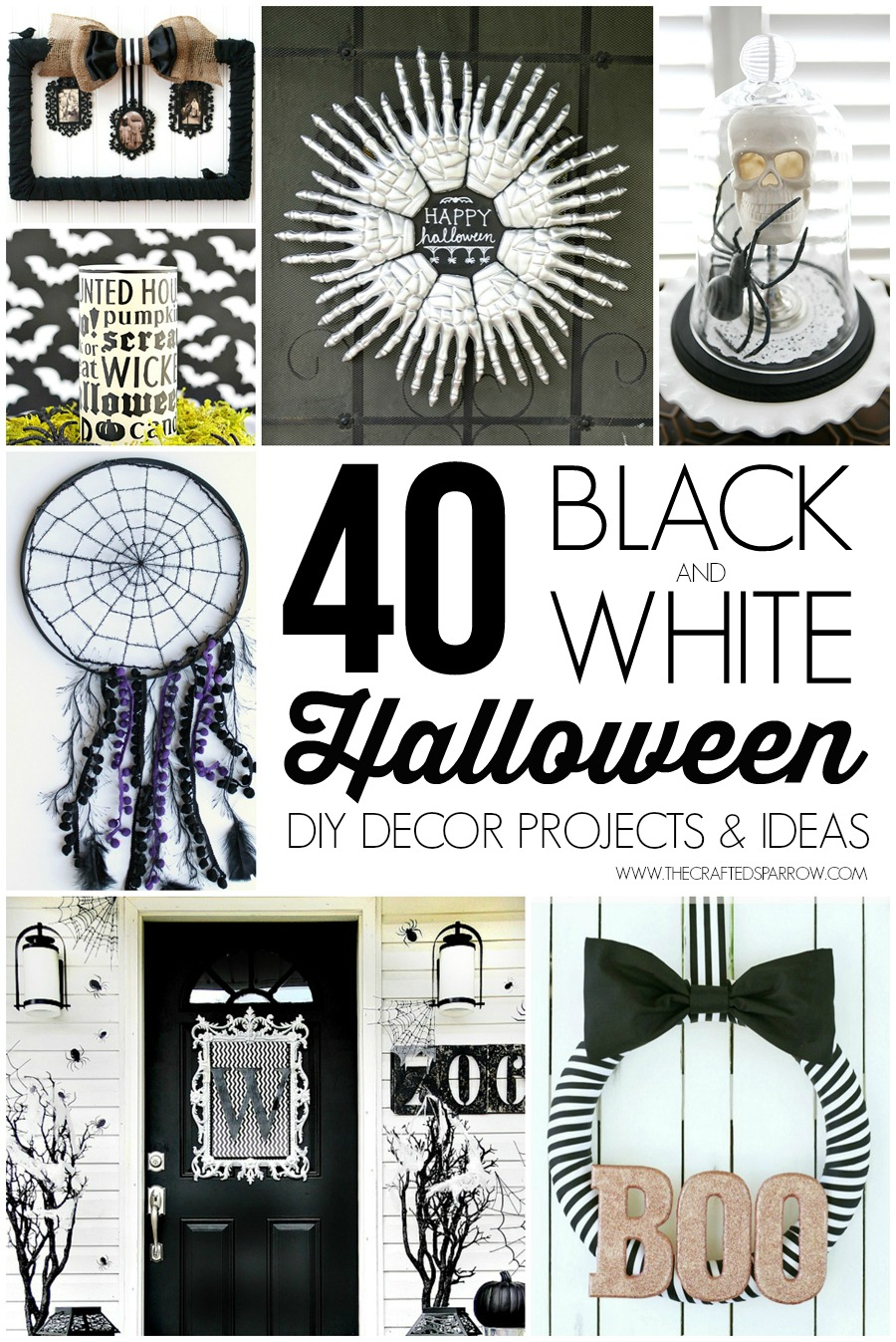 40 black & white halloween decor projects