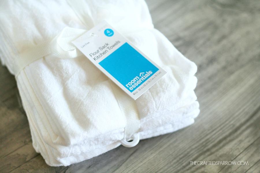 DIY Christmas Tea Towels