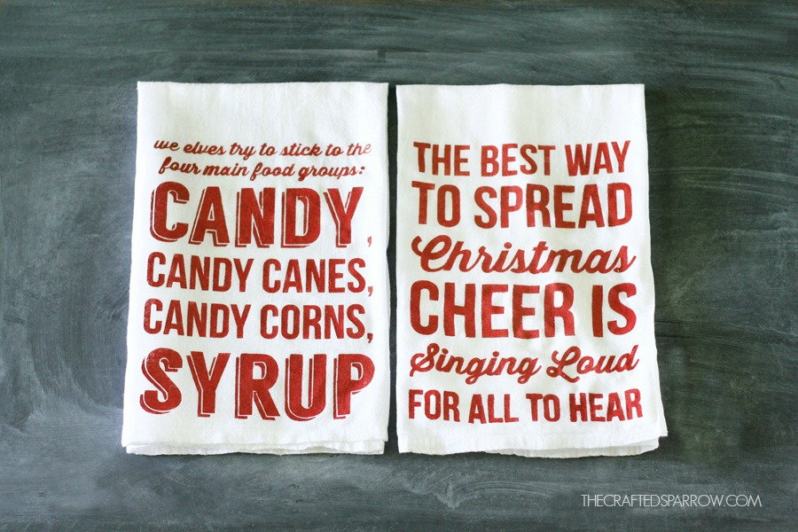 DIY Christmas Tea Towels