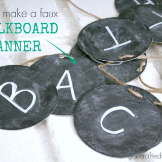 Faux Chalkboard Banner