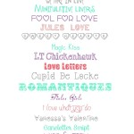 21 Valentine's Day Fonts