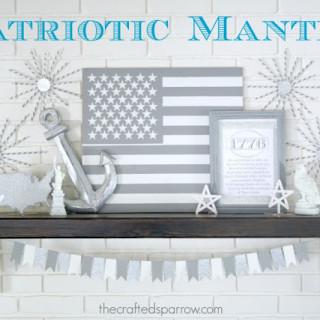 4th of July Patriotic Mantle