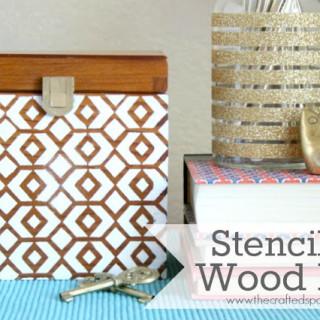 Stenciled Wood Box