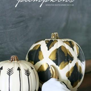 Tribal Inspired Pumpkins