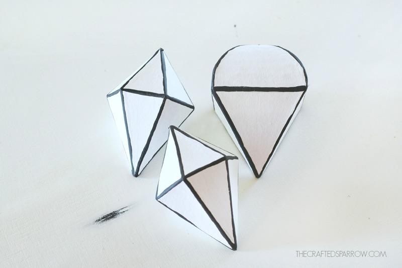 Black & White Geometric Ornaments