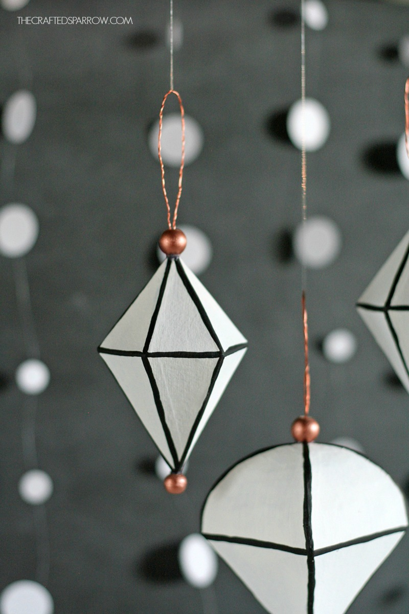Black & White Geometric Ornaments