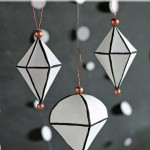 DIY Black & White Geometric Ornaments