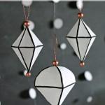 DIY Black & White Geometric Ornaments
