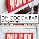 DIY Cocoa Bar Marquee Sign