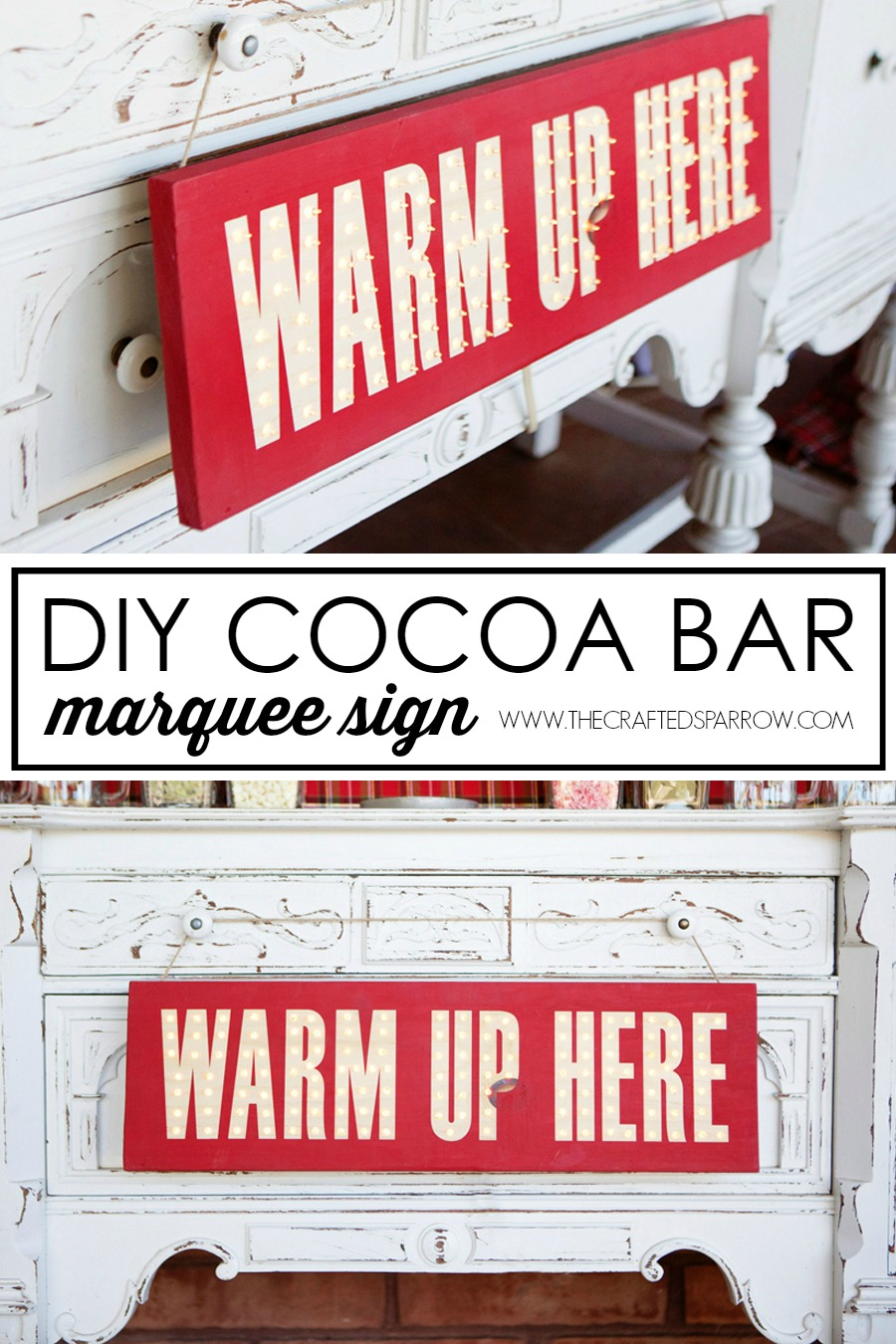 DIY Cocoa Bar Marquee Sign