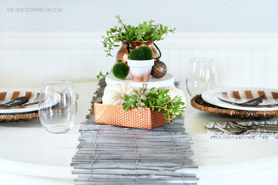 Copper Inspired Fall Tablescape