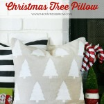 Geometric Christmas Tree Pillow