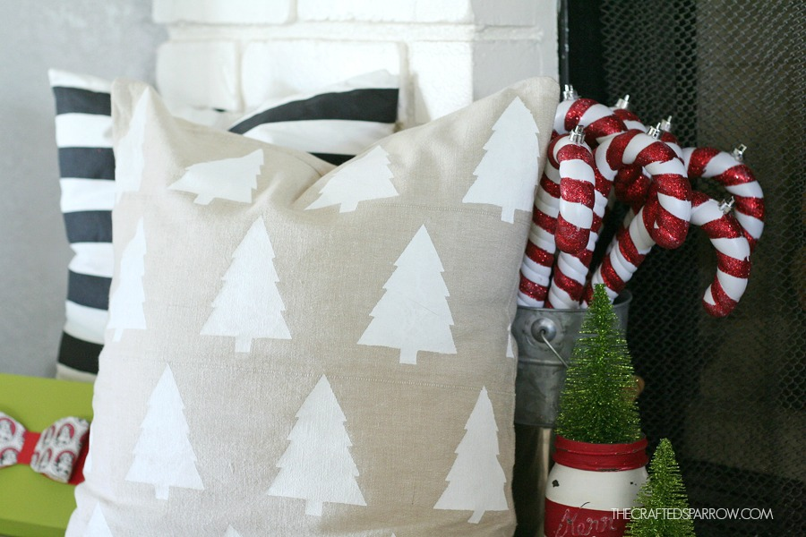 Geometric Christmas Tree Pillow