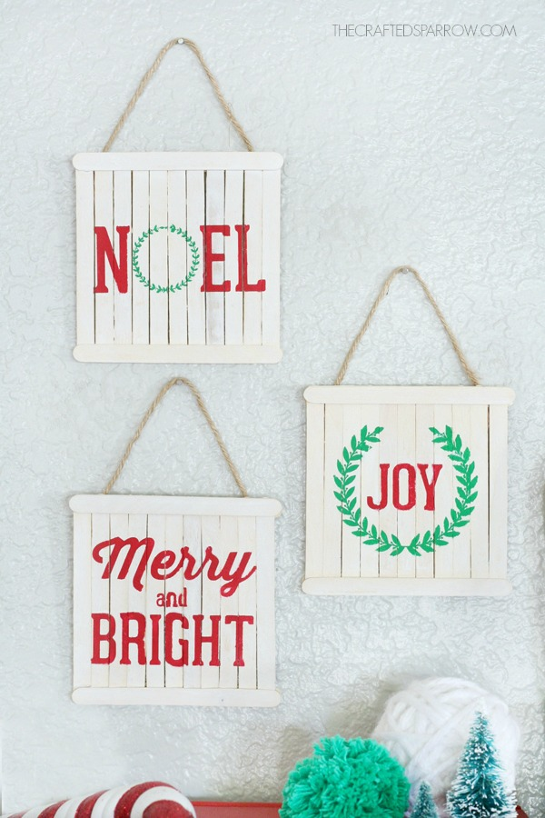 mini pallet sign ornaments - Christmas Pallet Signs