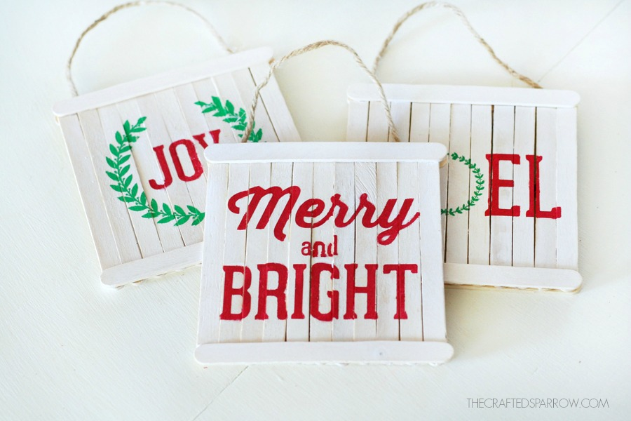 Mini Pallet Sign Ornaments