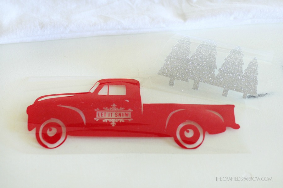 Vintage Truck Christmas Pillow