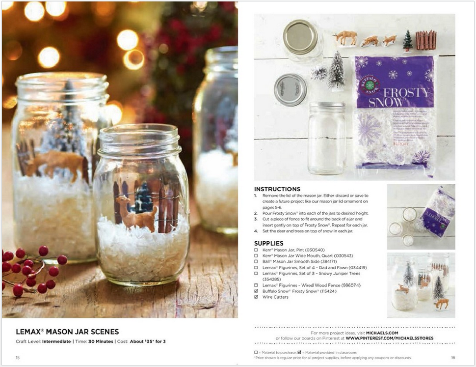 michaels snowglobe jars