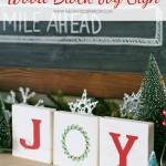 Wood Block Joy Sign