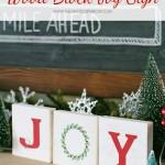 Wood Block Joy Sign