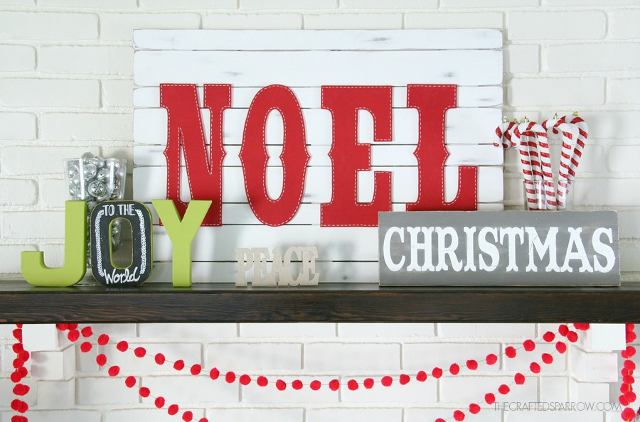 Vintage Noel Pallet Sign by The Crafted Sparrow