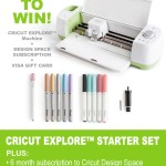 Cricut Explore + Visa Gift Card Giveaway