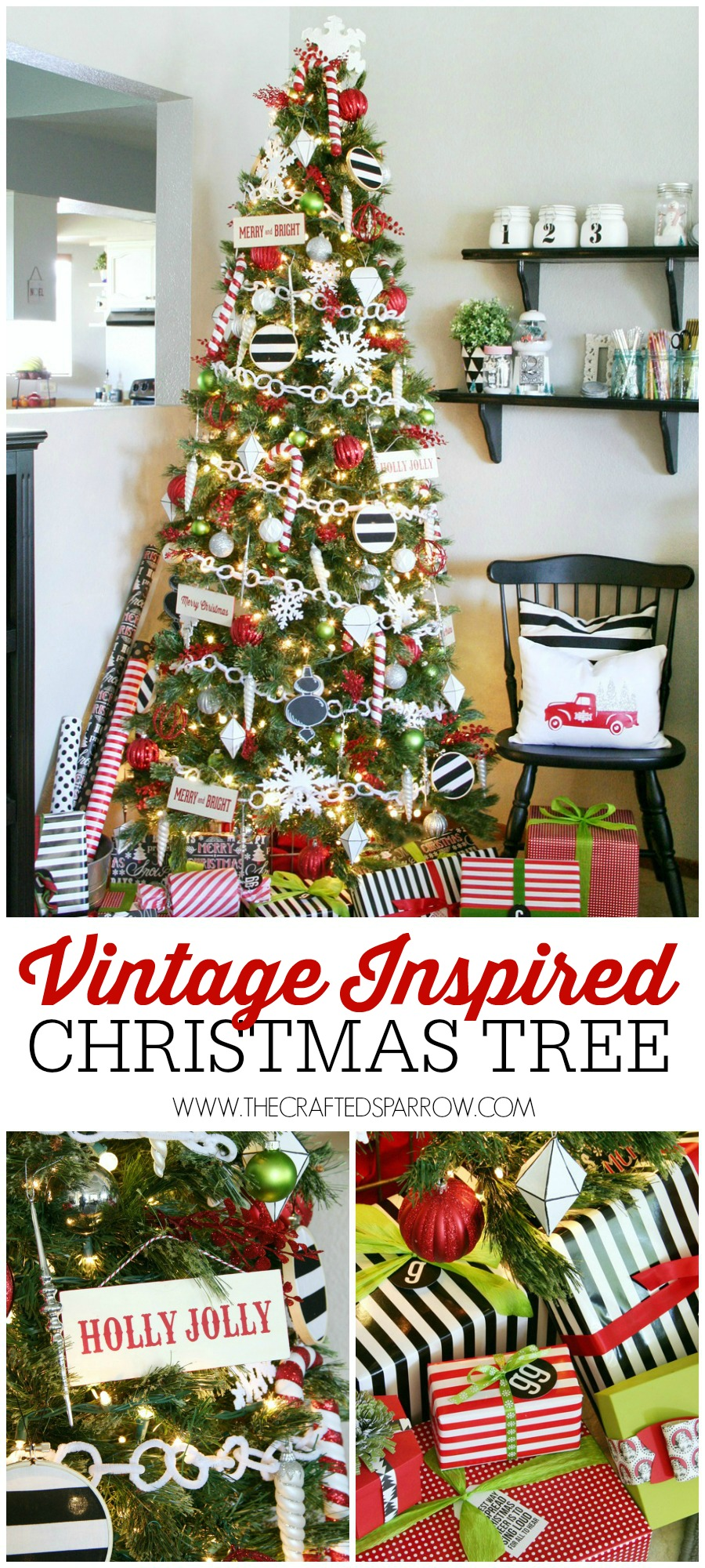 Vintage Inspired Christmas Tree