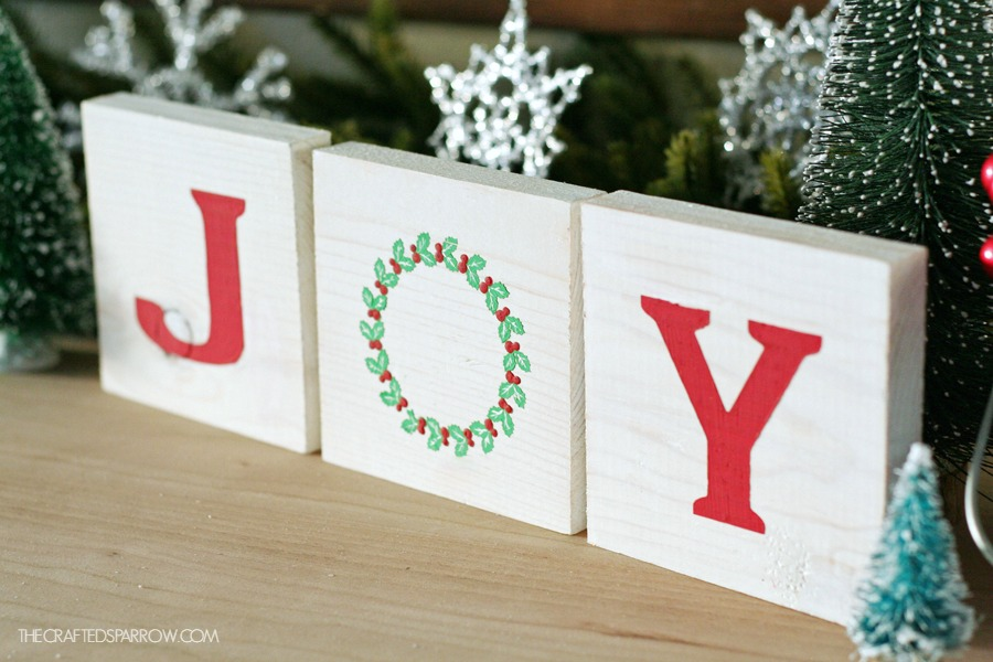 Wood Block Joy Sign by The Crafted Sparrow
