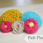 Felt Flowers Tutorials {5} to choose from