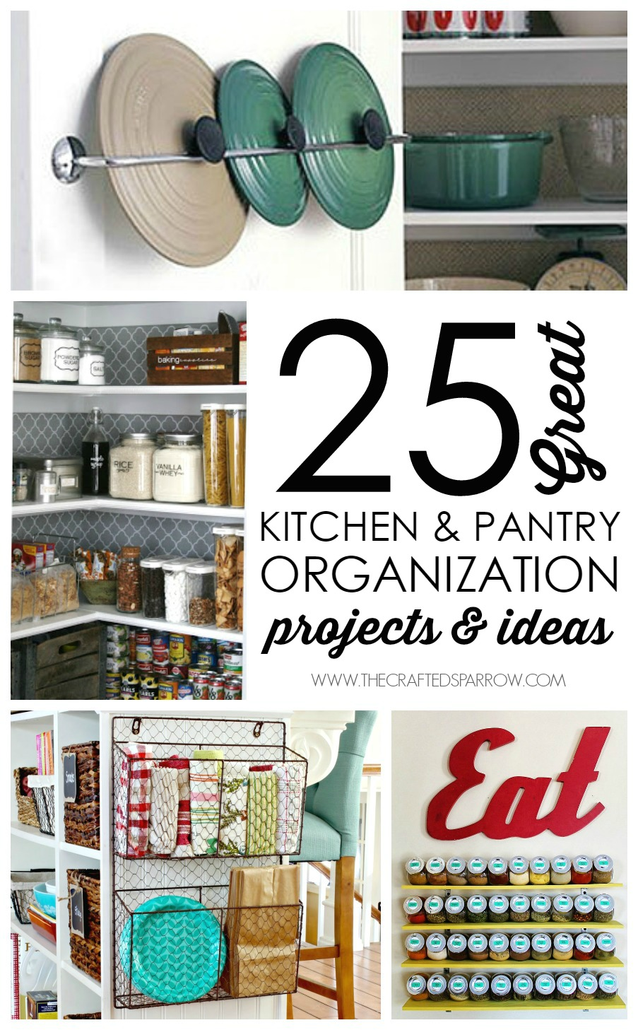 25 Kitchen and Pantry Organization & Ideas