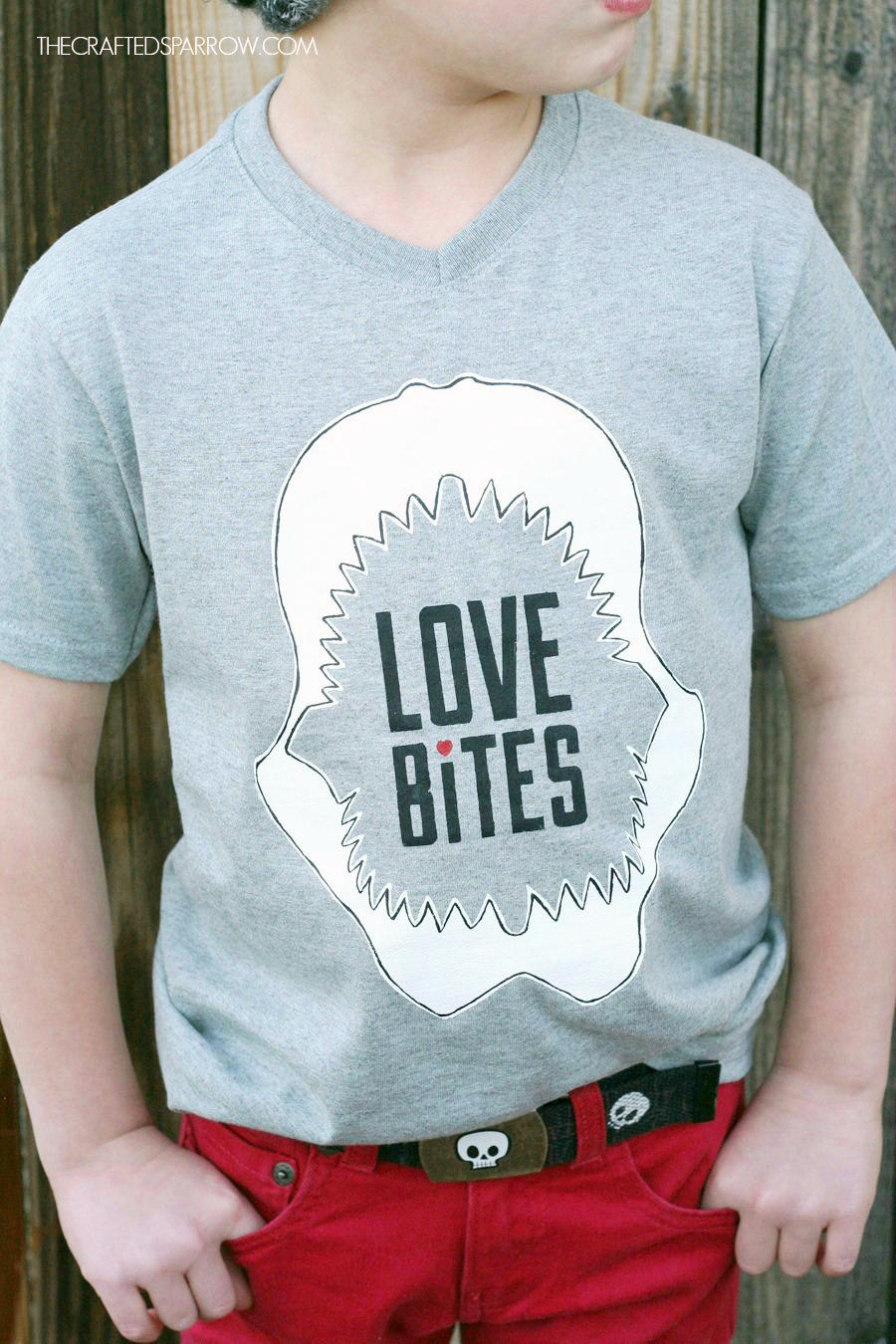 DIY Boys Valentine's Shirt