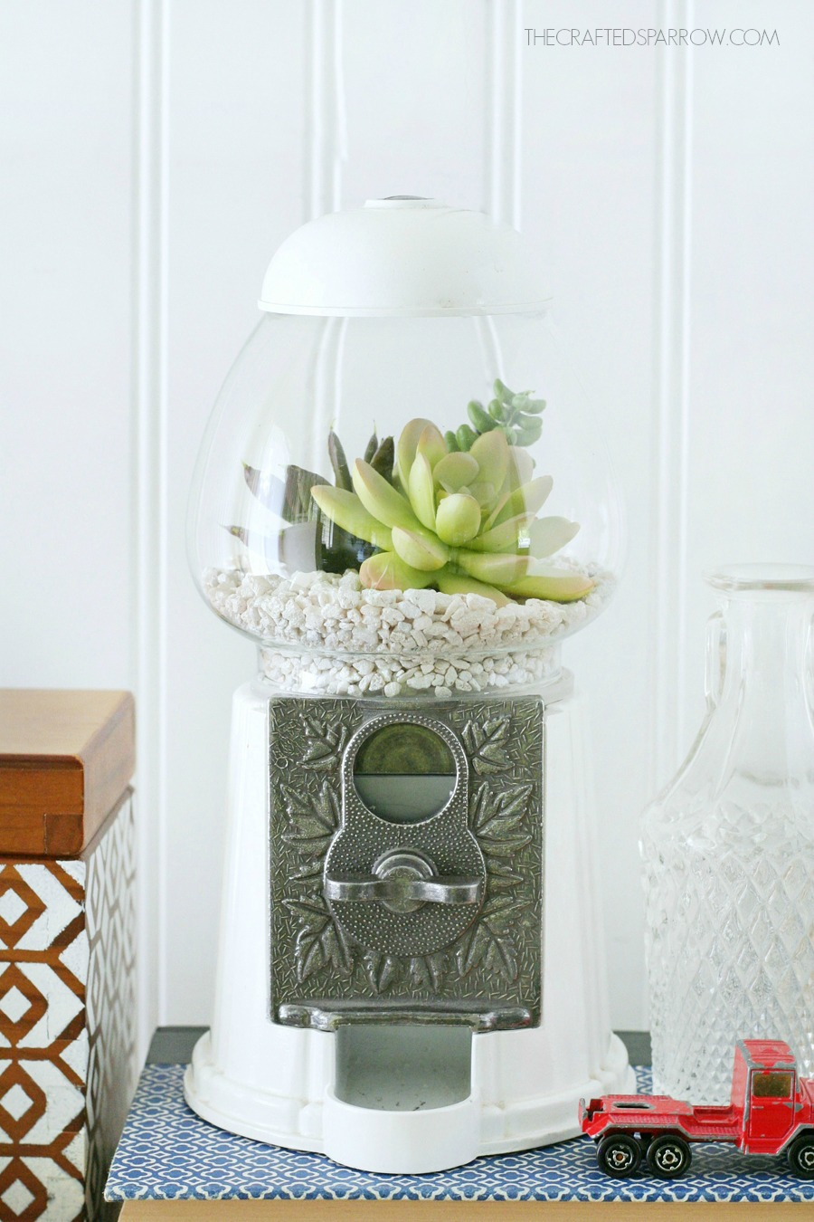 Gumball Machine Succulent Planter