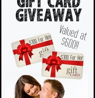 Valentine's Day His & Hers Gift Card Giveaway