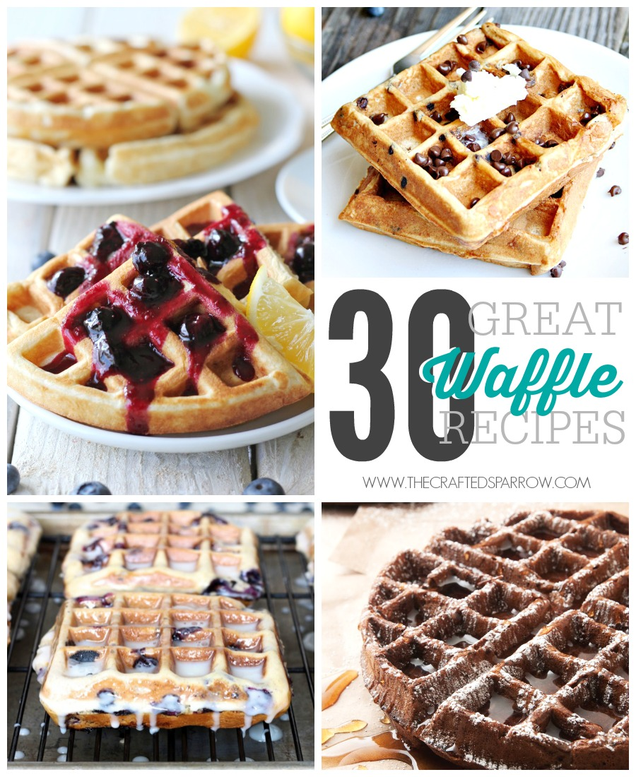 30 Great Waffle Recipes