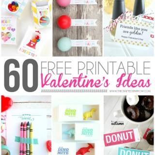 60 Free Printable Valentine's