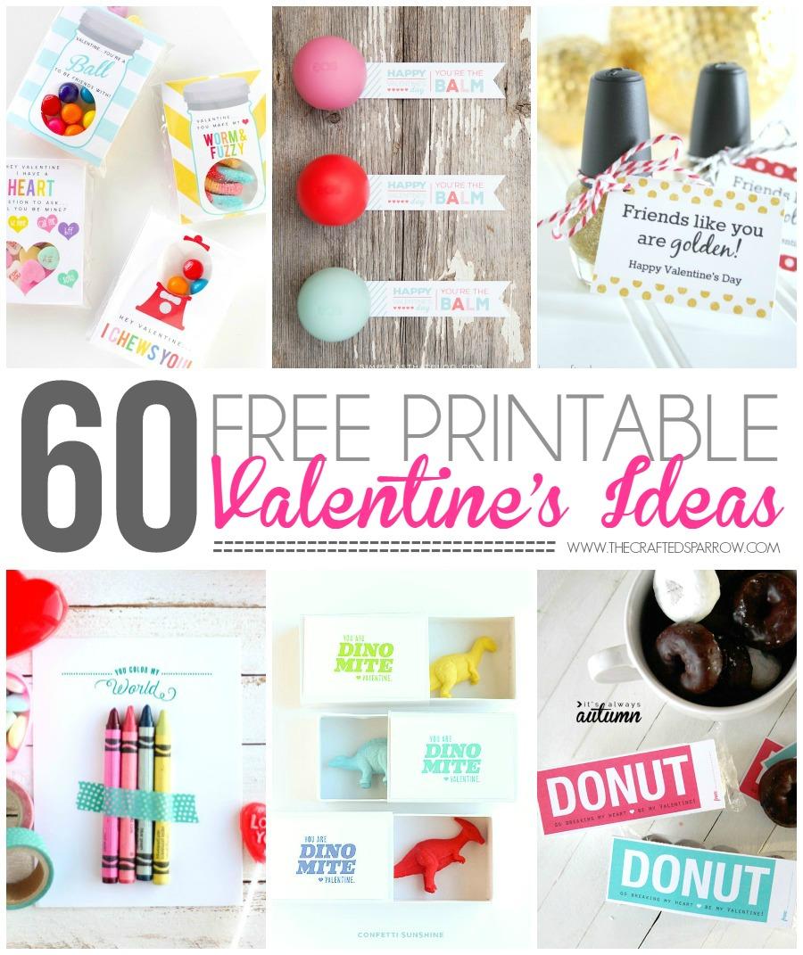 60 Free Printable Valentine's Ideaas