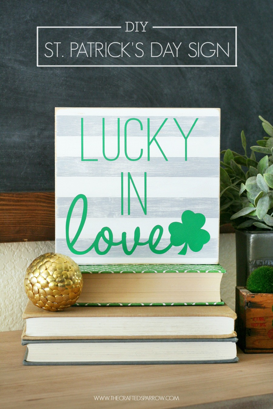 DIY St. Patrick's Day Sign