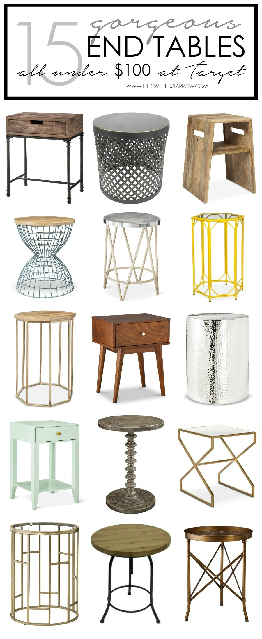 15 Gorgeous End Tables All Under $100 at Target