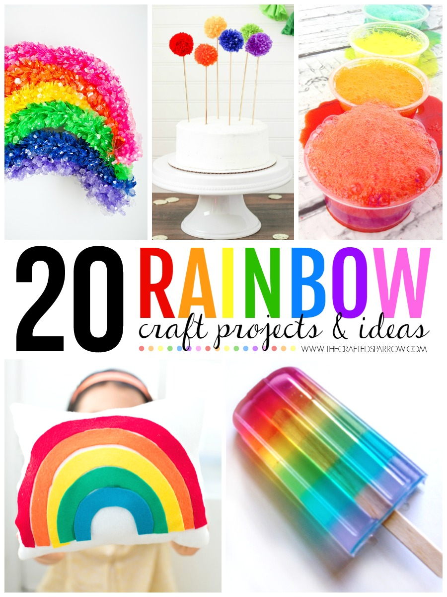 craft ideas to do with kids 20 rainbow craft projects amp ideas 7618