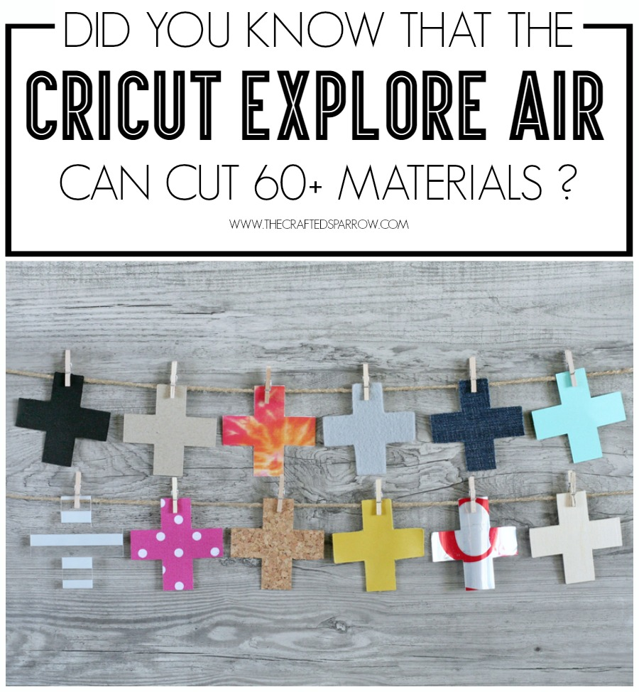Cricut Explore Air: What Can it Cut?