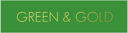 GREEN & GOLD TAG