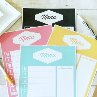 Free Printable Weekly Meal Planners