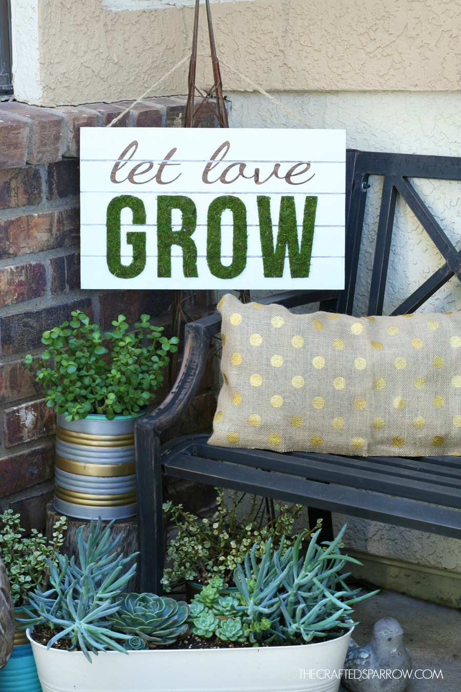 Spring Inspired Slat Sign