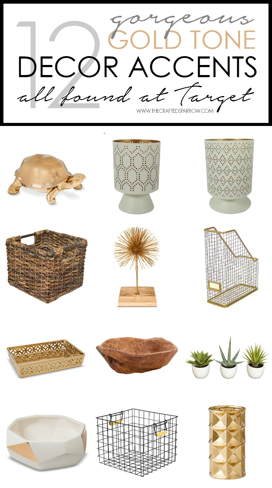 12 Gorgeous Gold Tone Decor Accents