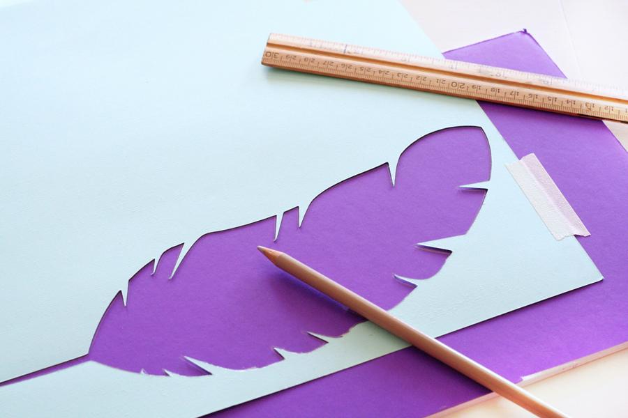 DIY Feather Art