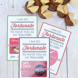 Teacher Appreciation Printable Gift Card Holders