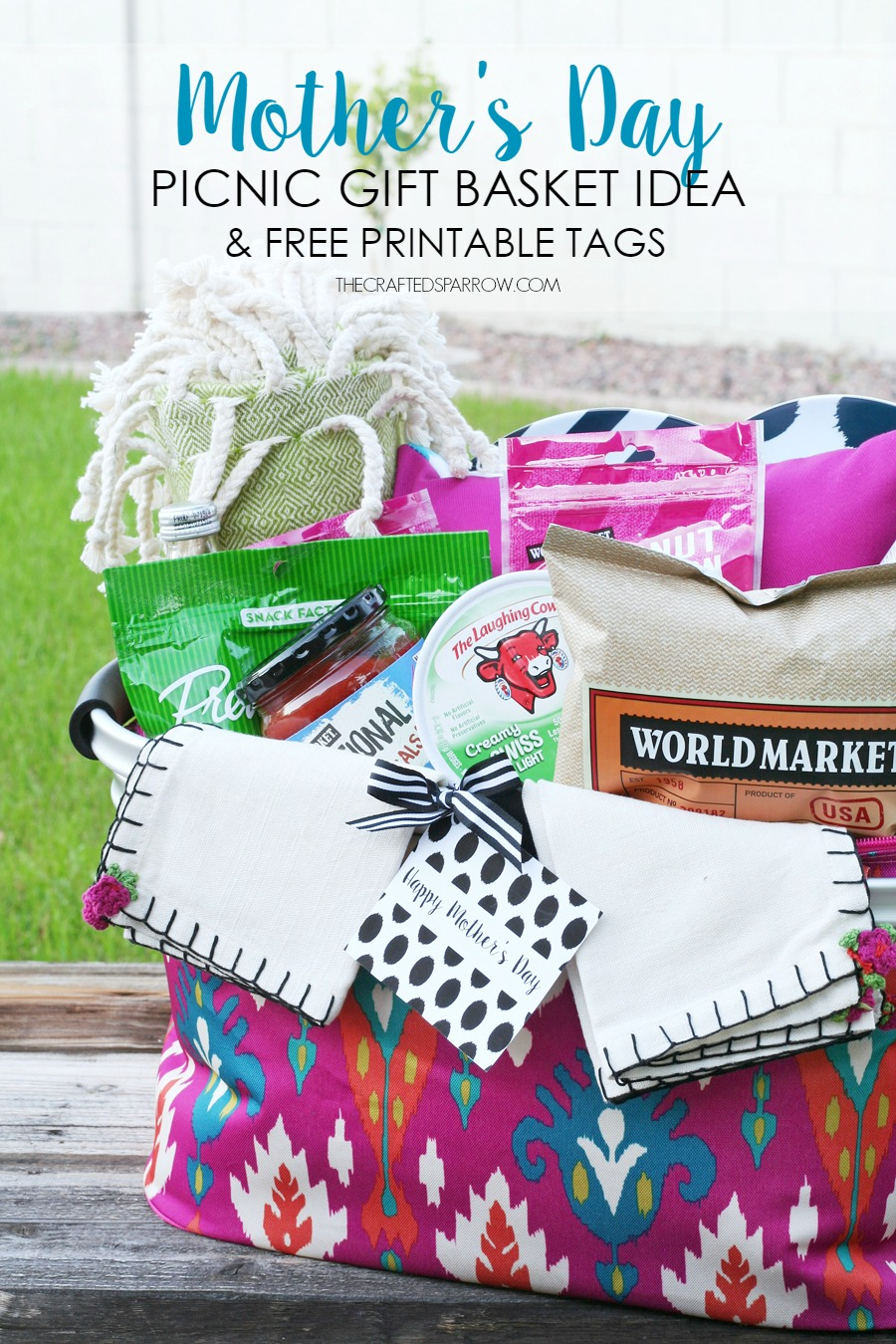 Mother S Day Picnic Gift Basket Idea