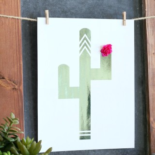Foiled Cactus Prints & Free Printables