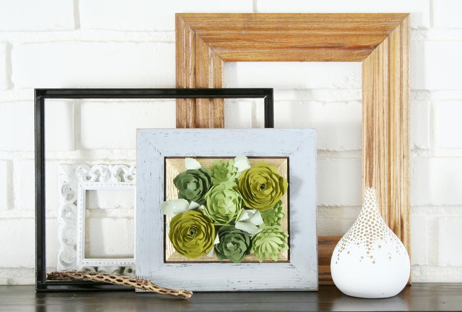 Framed Paper Succulents