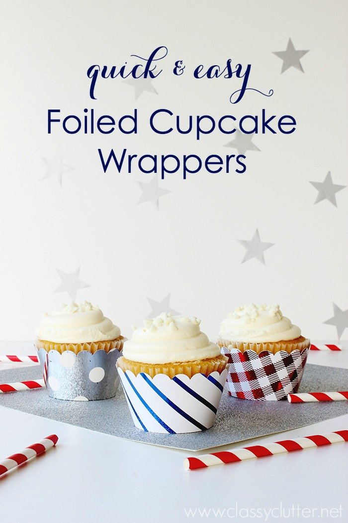Quick & Easy Foiled Cupcake Wrappers